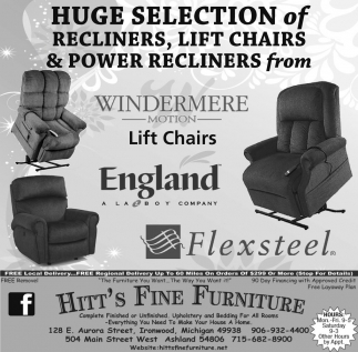 Huge Selection of Recliners, Lift Chairs & Power Recliners from Windermere Motion