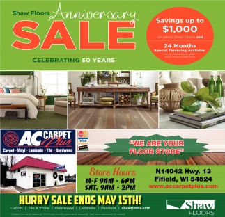 Shaw Floors Anniversary Sale