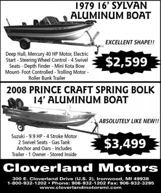 1979 16' Sylvan Aluminum Boat