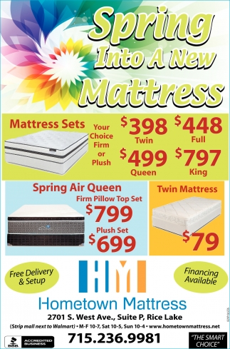 Spring Into A New Mattress