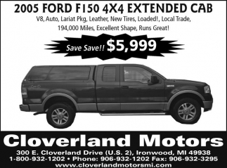 2005 Ford F150 4x4 Extended CAB