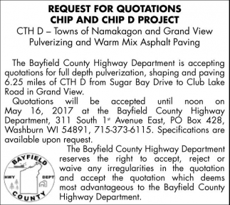 Request for Quotations Chip and Chip D Project