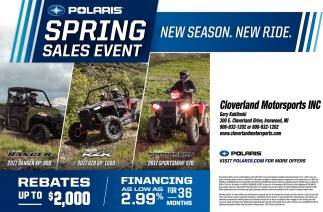 Polaris Spring Sales Event