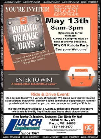 Kubota Orange Days