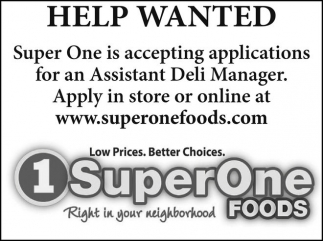 Assistant Deli Manager