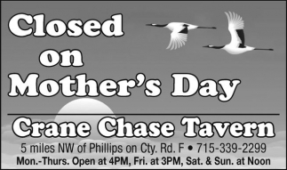 Closed on Mother's Day