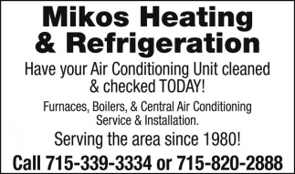 Furnaces, Boilers, & Central Air Conditioning Service & Installation