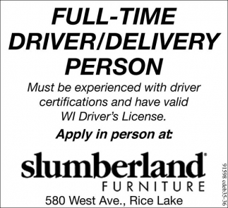 Driver/Delivery Person