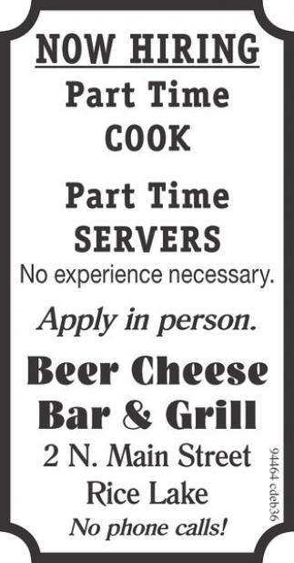 Cook, Servers