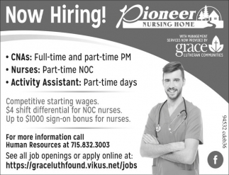 CNAs, Nurses, Activity Assistant