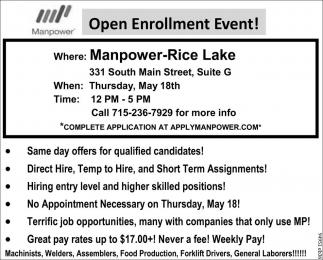 Open Enrollment Event