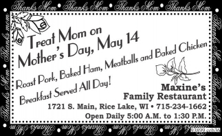 Treat Mom on Mothe'rs Day