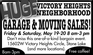 Garage & Moving Sales!, Victory Heights Neighborhood