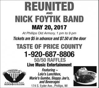 Reunited and Nick Foytik Band