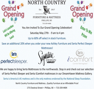 Grand Opening North Country Furniture & Mattress