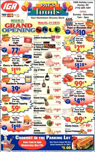 Week 2 Grand Opening Sale