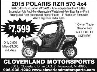 2015 Polaris RZR 570 4x4