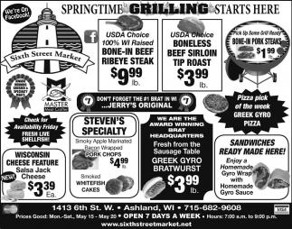 Springtime Grilling Starts Here