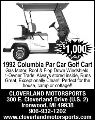 1992 Columbia Par Car Golf Cart