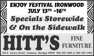ENJOY FESTIVAL IRONWOOD