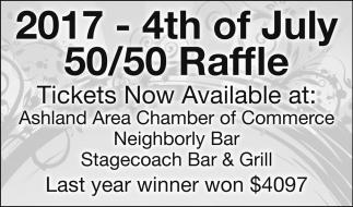 2017 - 4th of July 50/50 Raffle