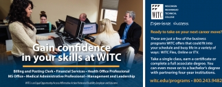 Gain confidence in your skills at WITC