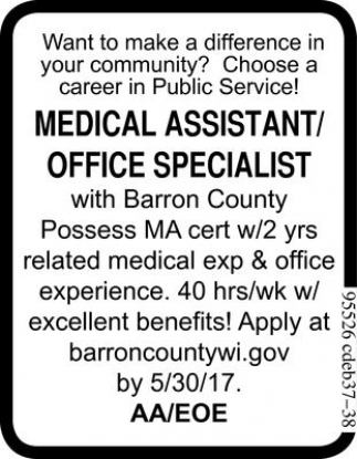 Medical Assistant / Office Specialist