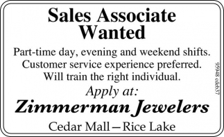 Sales Associate Wanted