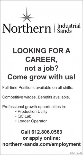 Production Utility, QC Lab, Loader Operator