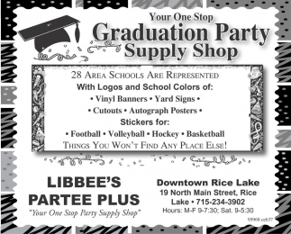graduation party supply shop libbee u0027s partee plus