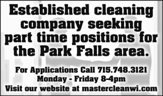 Part Time Positions