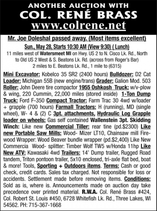 Mini Excavator, Loader, Roller, Truck, Tractor, ATV