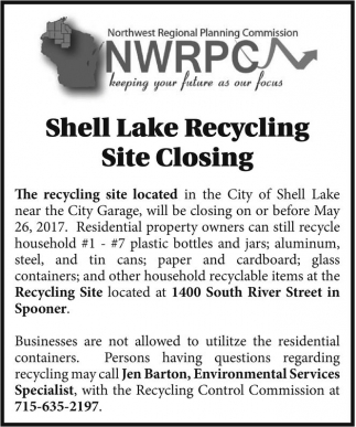 Shell Lake Recycling Site Closing