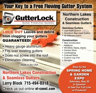 Northern Lakes Construction And Seamless Gutters Your