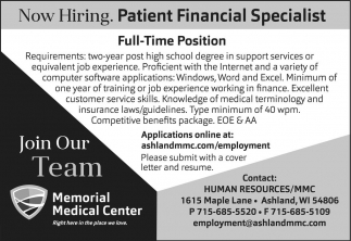 Patient Financial Specialist