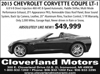 2015 Chevrolet Corvette Coupe LT-1