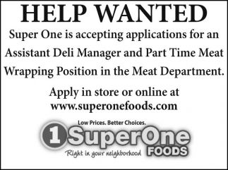 Assistant Deli Maneger / Wrapping Position
