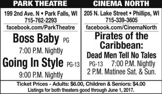 Boss Baby, Going In Style / Pirates of the Caribbean: Dead Men Tell No Tales