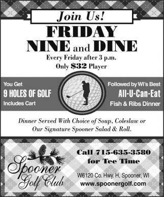 Friday Nina and Dine