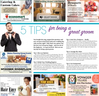 5 Tips for being a great groom