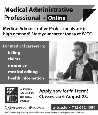 Medical Administrative Professional - Online
