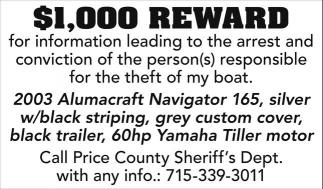 $1,00 REWARD