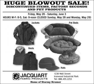 Huge Blowout Sale!