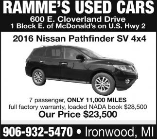 2016 Nissan Pathfinder SV 4x4