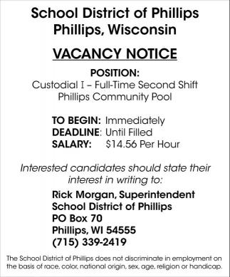 Vacancy Notice
