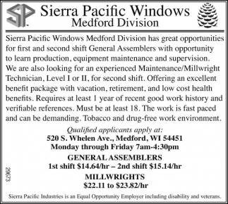 General Assemblers, Millwrights