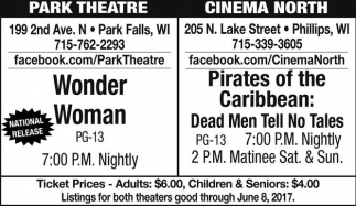 Wonder Woman / Pirates of the Caribbean: Dead Men Tell No Tales