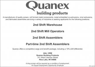 Warehouse / Mill Operators / Assemblers