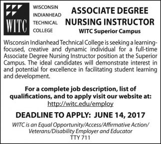Associate Degree Nursing Instructor