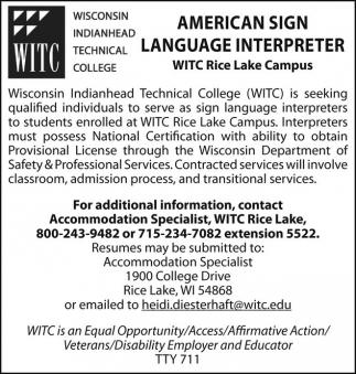 American Sign Language Interpreter